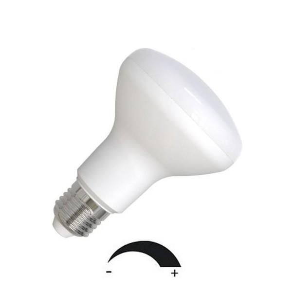 9 Watt LED-Lampe in Spotform, E27 - R80, Lichtfarbe warmweiß 2700 K, dimmbar - 120° Ausstrahlung