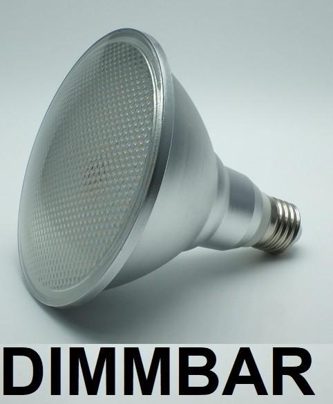 15 Watt PAR 38 LED Lampe E27 - Lichtfarbe warmweiß 2700 K dimmbar - 120° Ausstrahlung