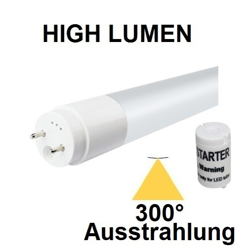 150 cm LED-Röhre T8 - G13, 20 Watt, 300° Ausstrahlung, Lichtfarbe Neutralweiß 4000K