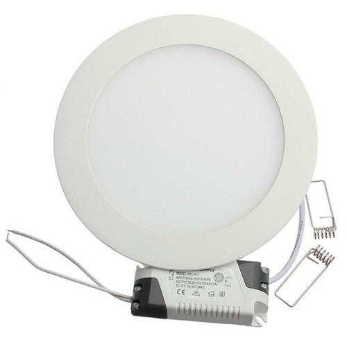 24 Watt LED Panel, 30 cm Durchmesser, Lichtfarbe warmweiß, Rahmen Weiss