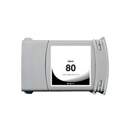 Refill Druckerpatrone HP 80 XL schwarz, black C4871A
