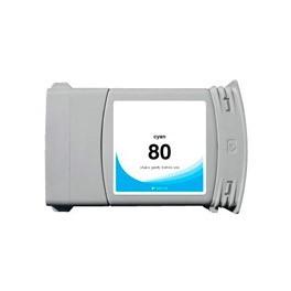 Refill Druckerpatrone HP 80 XL cyan C4846A, C4872A
