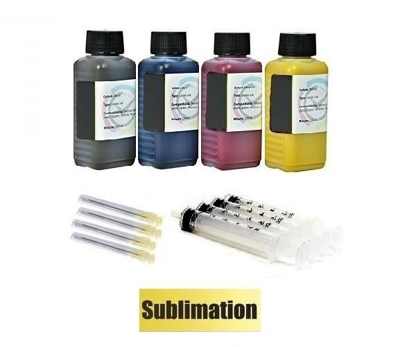 4 x 100 ml Dye Sublimationstinte black, cyan, magenta, yellow - für Epson, Ricoh