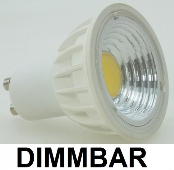 3 Watt COB LED-Spot GU10, Lichtfarbe warmweiß 2700 K, dimmbar - 90° Ausstrahlung