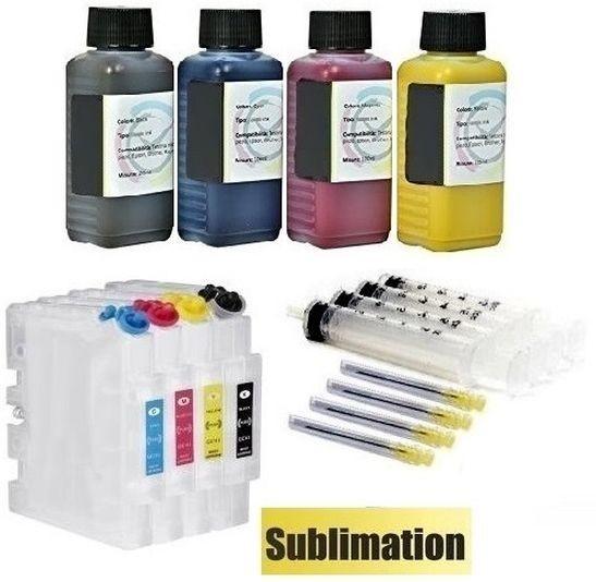 Wiederbefüllbare QUICKFILL-FILL-IN Patronen Ricoh GC-21 + 400 ml Dye-Sublimationstinten