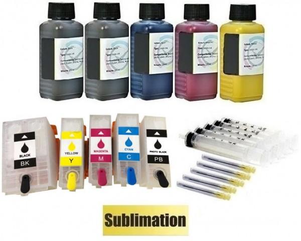 Wiederbefüllbare QUICKFILL-FILL-IN Patronen wie Epson 202, 202 XL + 500 ml Dye-Sublimationstinte