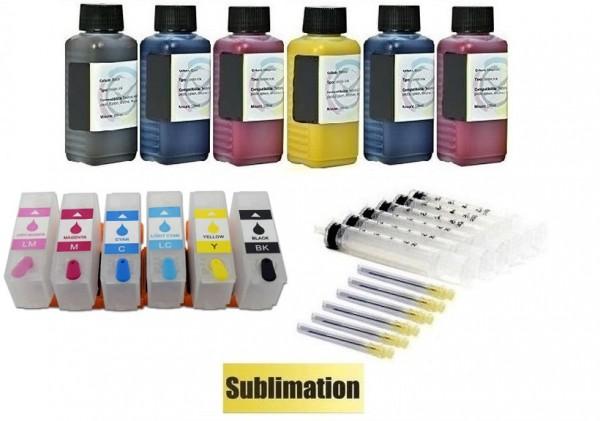 Wiederbefüllbare QUICKFILL-FILL-IN Patronen wie Epson 378, 378 XL + 600 ml Dye-Sublimationstinte
