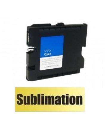 Druckerpatrone wie Ricoh GC 41 XL cyan, 405762, 405766 mit SUBLIMATIONSTINTE