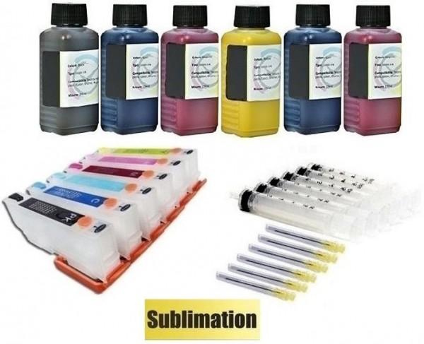 Wiederbefüllbare QUICKFILL-FILL-IN Patronen wie Epson T24 XL + 600 ml Dye-Sublimationstinten