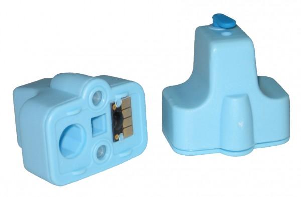 Wiederbefüllbare Quickfill Fill-In Patrone HP 363 light-cyan mit Auto Reset Chip