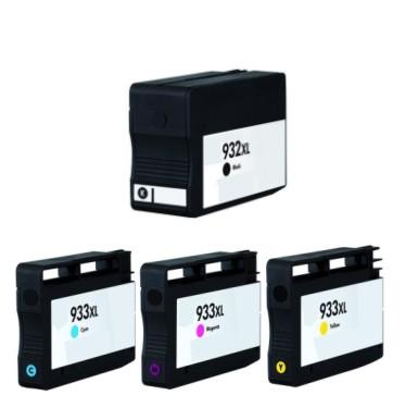 Druckerpatronen Set wie HP 932 XL black, 933 XL cyan
