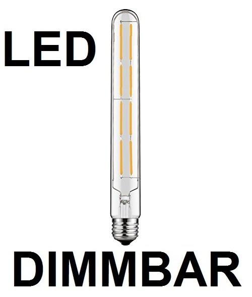 8 Watt Faden Filament LED-Lampe T30 - E27 - 300 mm Länge, Lichtfarbe warmweiß, dimmbar