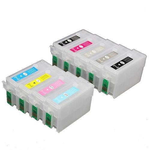 Wiederbefüllbare QUICKFILL-FILL-IN Patronen wie Epson T7601-T7609 mit Auto Reset Chips
