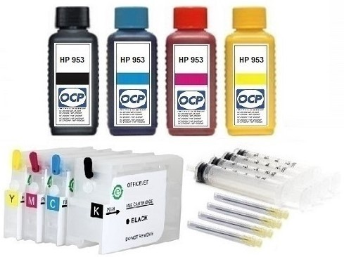 Wiederbefüllbare QUICKFILL-FILL-IN Patronen HP 953 XL + 400 ml OCP Tinten