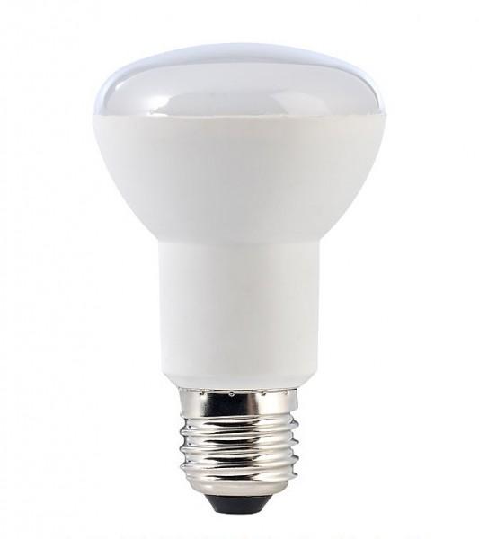 7 Watt LED-Lampe in Spotform, E27 - R63, Lichtfarbe warmweiß 2700 K - 120° Ausstrahlung