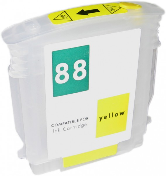 Wiederbefüllbare Quickfill Fill-In Patrone HP 88 yellow mit Auto Reset Chip