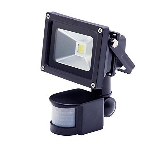 10 Watt LED Außenstrahler - Flutlicht mit einstellbarem Bewegungssensor
