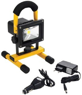 10 Watt AKKU LED Außenstrahler - Flutlicht