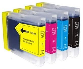 Druckerpatronen Set wie Brother LC-970, LC-1000 black, cyan, magenta, yellow XL
