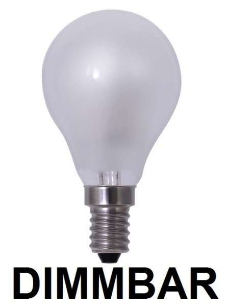 4 Watt Faden Filament LED Lampe, Birne, E14, Lichtfarbe warmweiß 2700 K, Milchglas, dimmbar