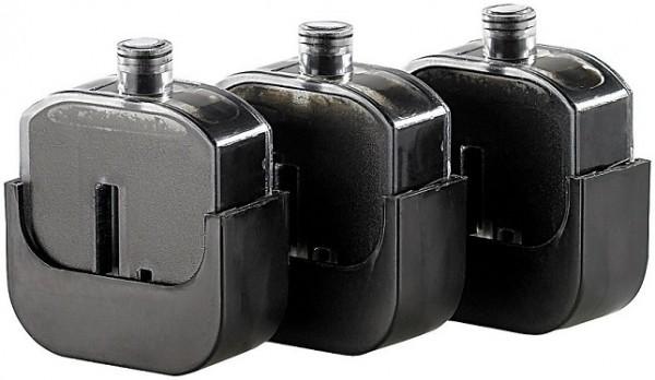3 Nachfülltinten-Tanks für Easy Refill Befülladapter HP 305 black